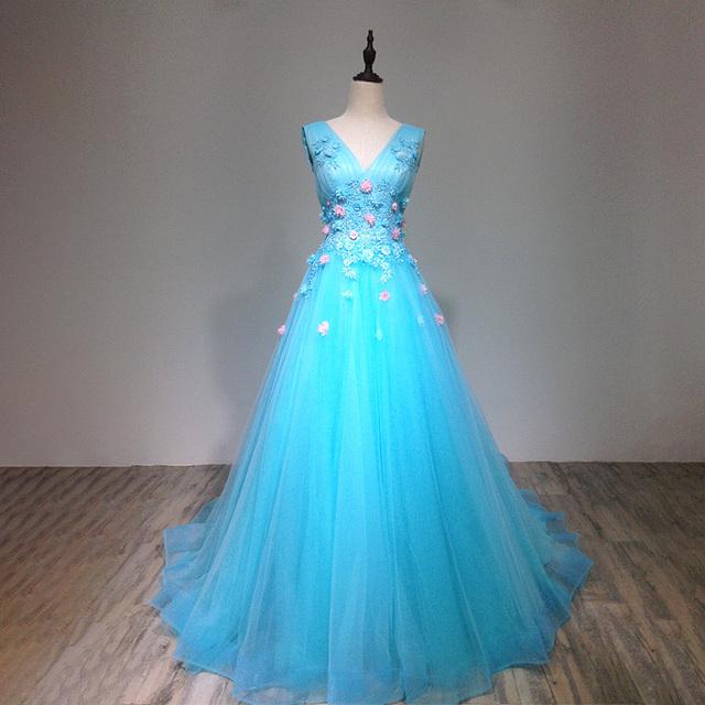 a995142754e Light blue pink flower latest decent plus size 2 in 1 wedding dresses size  34