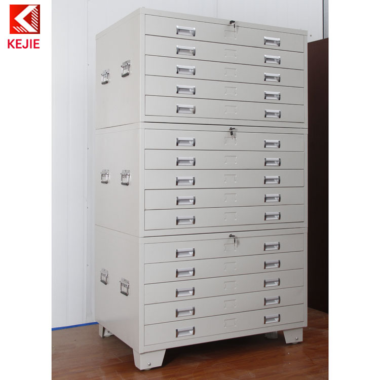 Construction Used 5 Drawer Map Flat Chest Drawings File Cabinet ...