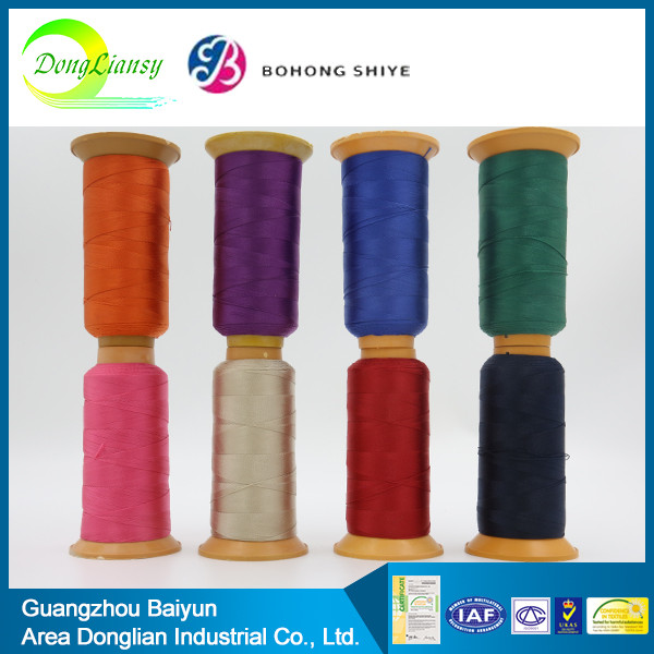 Hot sell spun polyester sewing crochet thread elastic in china