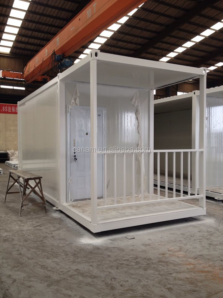 low cost prefabricated container house for temporary dormitory