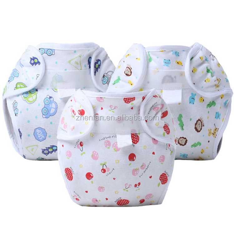 factory direct 100% cotton baby cloth diaper printed reusable baby diaper