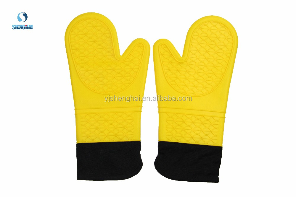 Durable BBQ mitten baking silicone oven gloves kitchen tools