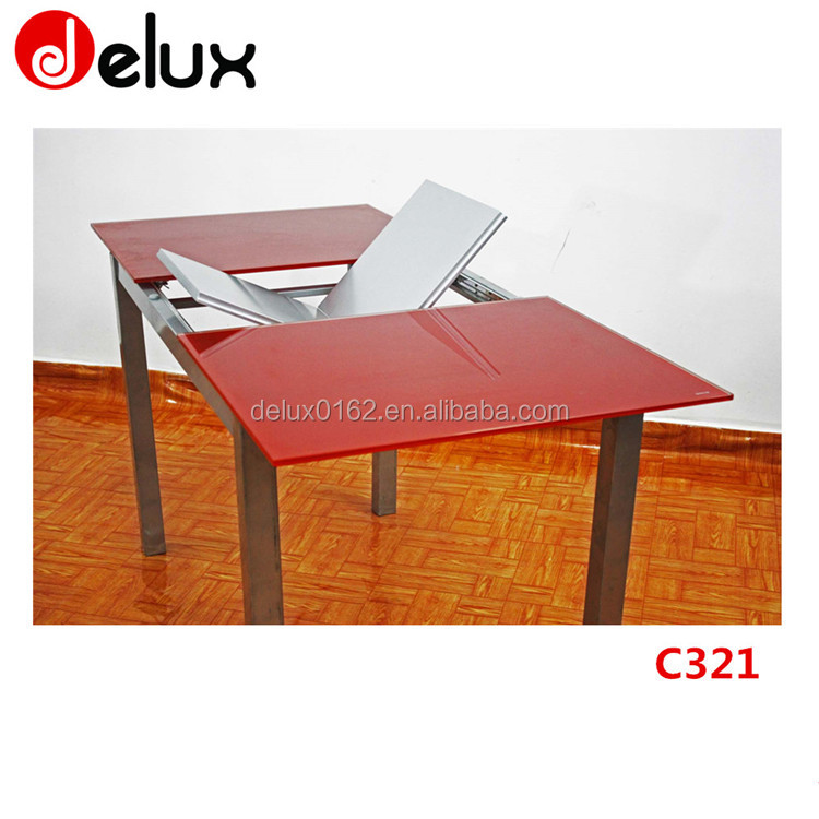 Red And Black Modern Glass Dining Table, Red And Black Modern Glass Dining  Table Suppliers And Manufacturers At Alibaba.com
