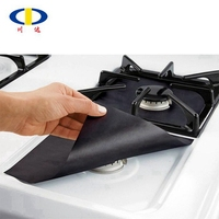 High quality cooking protectors black gas stove burner covers
