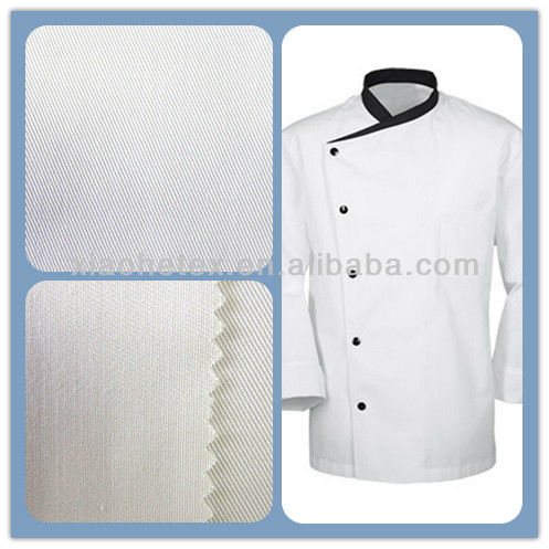 polyester /cotton chef uniform fabric