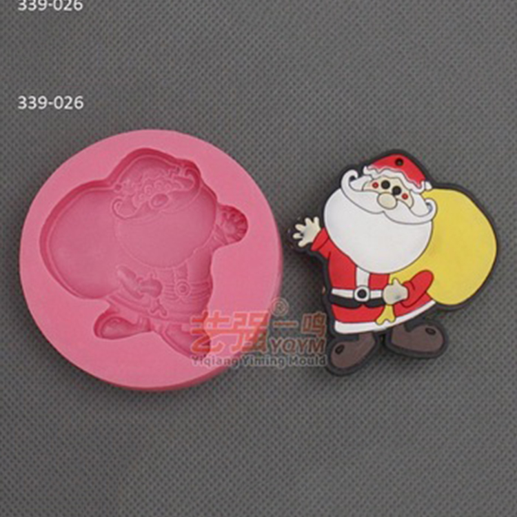 silicone christmas mold 3d,silicone santa claus chocolate mold,fondant cake decorating tools