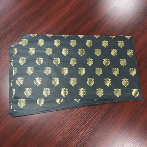 Luxury custom logo printed black wrapping tissue / silk wrapping paper