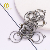 Raw Brass Color Tantat Double Loops Ear Wire Jewelry Making Findings DIY for Beading Hoop Earring