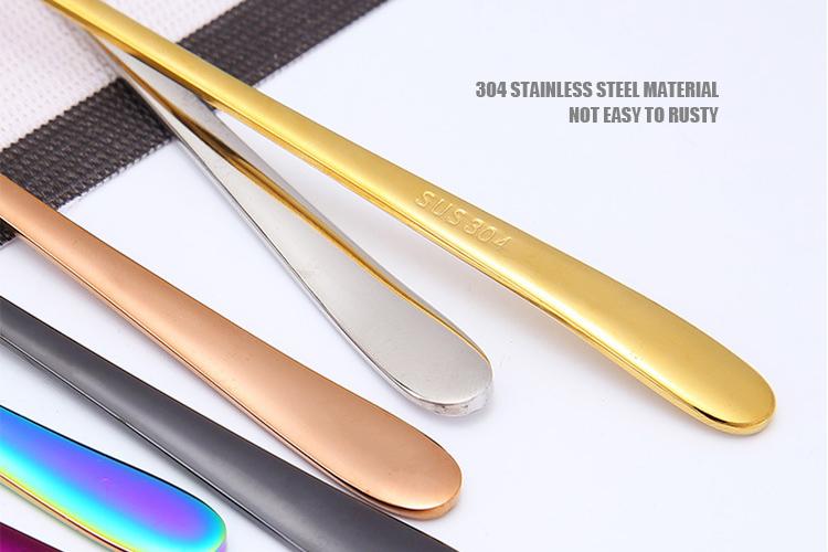 Цветная столовая ложка, ложка из нержавеющей стали, набор столовых приборов