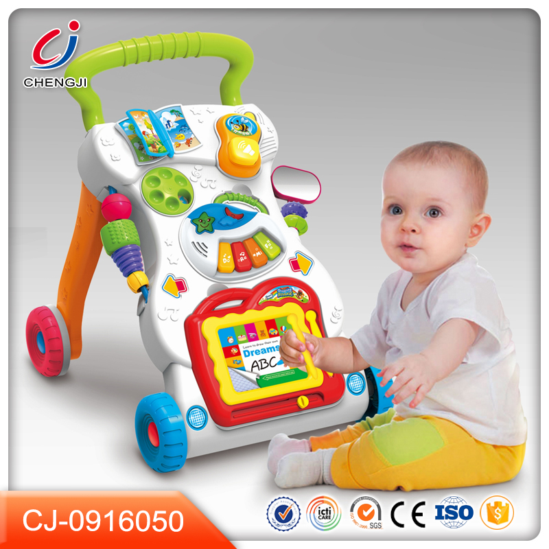 Funny toys plastic electric baby walker with light and music