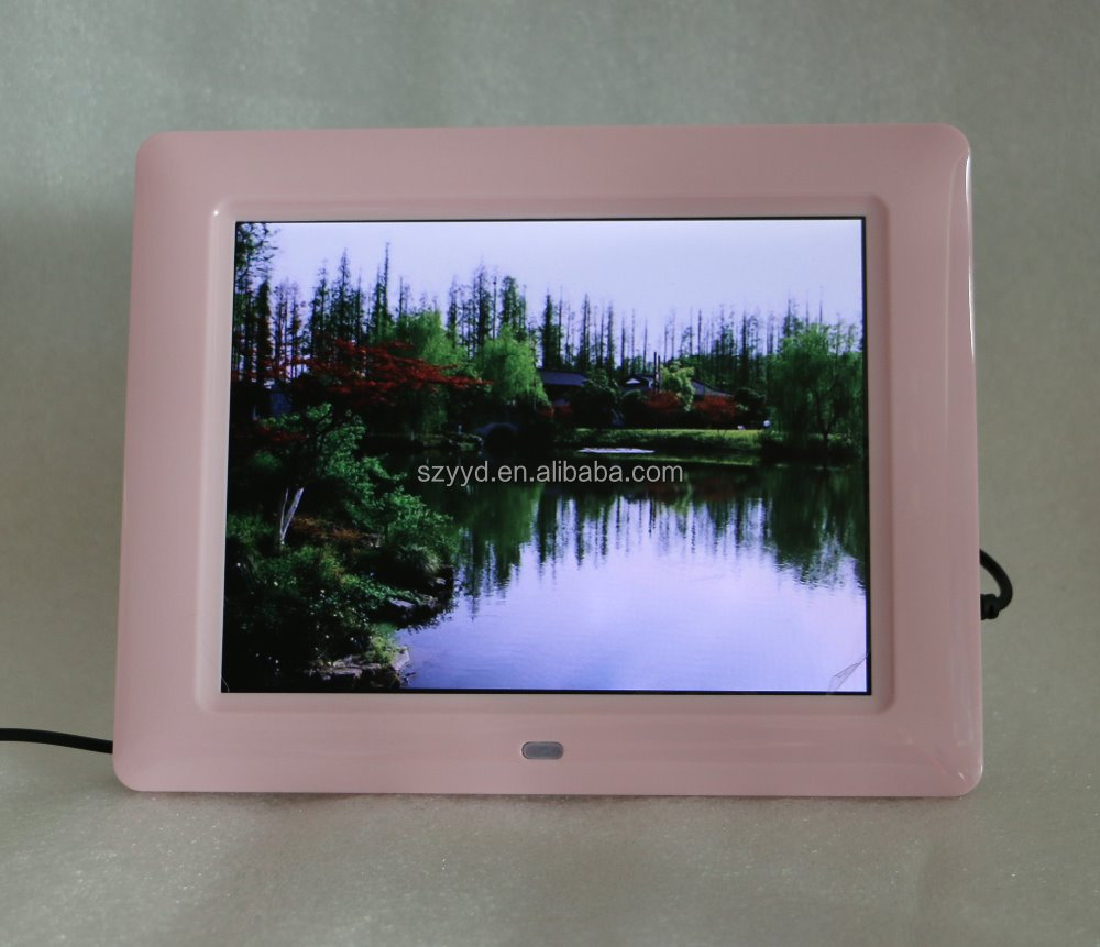 Acrylic LCD advertising player 8 inch Rechargeable Battery with 1024*768 high resolution