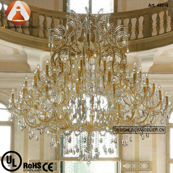Large gold and clear crystal chandelier maria theresa glass pendant large gold and clear crystal chandelier maria theresa glass pendant aloadofball Image collections