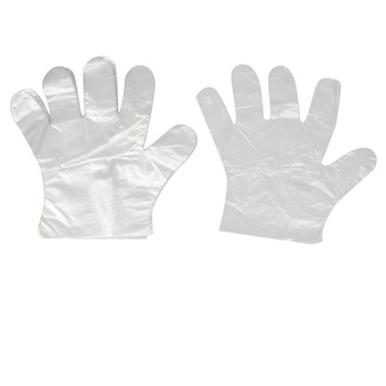 High quality disposable transparent pe gloves