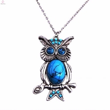 Punk style cool albanian eagle / owl pendant necklace jewelry