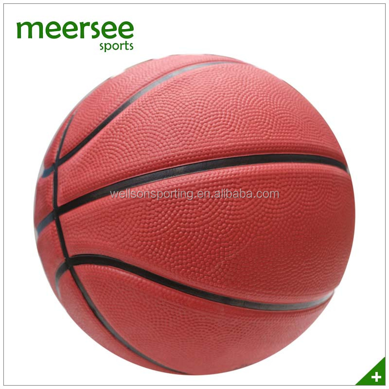 Skived foamed brown rubber basketball