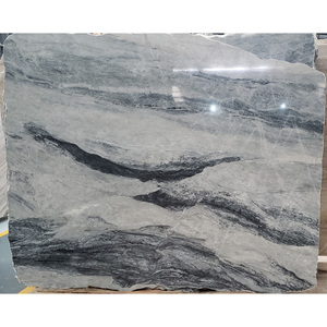 Grey Color Marble,China Cheap Price Natural Stone Slabs Blue Mountain Veins Grey Marble