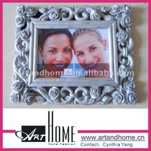 2017 elegante branco 5x7 picture frame da foto do polyresin