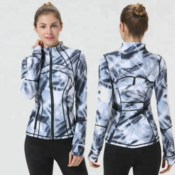 Women Gym Jackets Slim Fit Fashion Design Fitness Gym Wear Sports Jacket