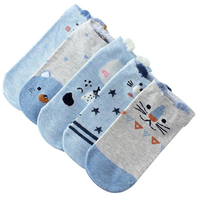 Cotton Short Socks Women Cartoon Cat Animal Ankle Socks Lady Warm Sock 1 Pair