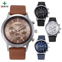 waterproof plated design your own chronograph custom logo minimalist quartz black luxury watches brand mens wrist north watches