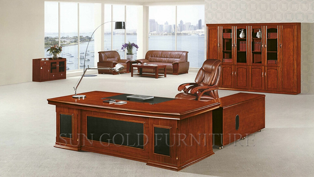 De luxe En Bois Bureau Table MDF Classique Bureau De Conception ...