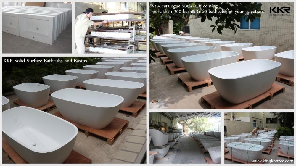 Resin Stone Japanese Soaking Tub Round Bathtub