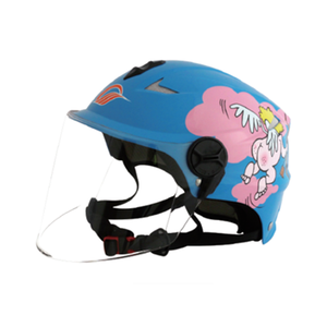 Blue Retro Open Face Personalized Motorcycle Paragliding Helmet