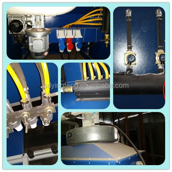 JFP2500 PLC control high quality vertical glass marble sandblasting machine with 4guns