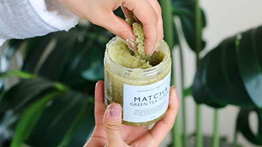 Natural Matcha Body Scrub Face Scrub Green Tea Deep Cleansing exfoliator scrub