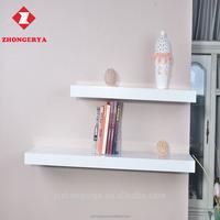 Premium MDF wooden shelf set mounted floating block wall shelf