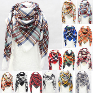 100% acrylic pashmina shawl scarf cheap wholesale taobao fashionable checked pashmina shawl