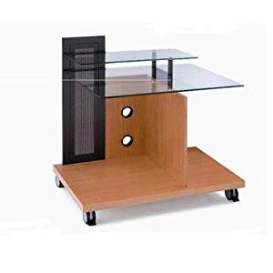 Protable Glass and MDF Computer Desk