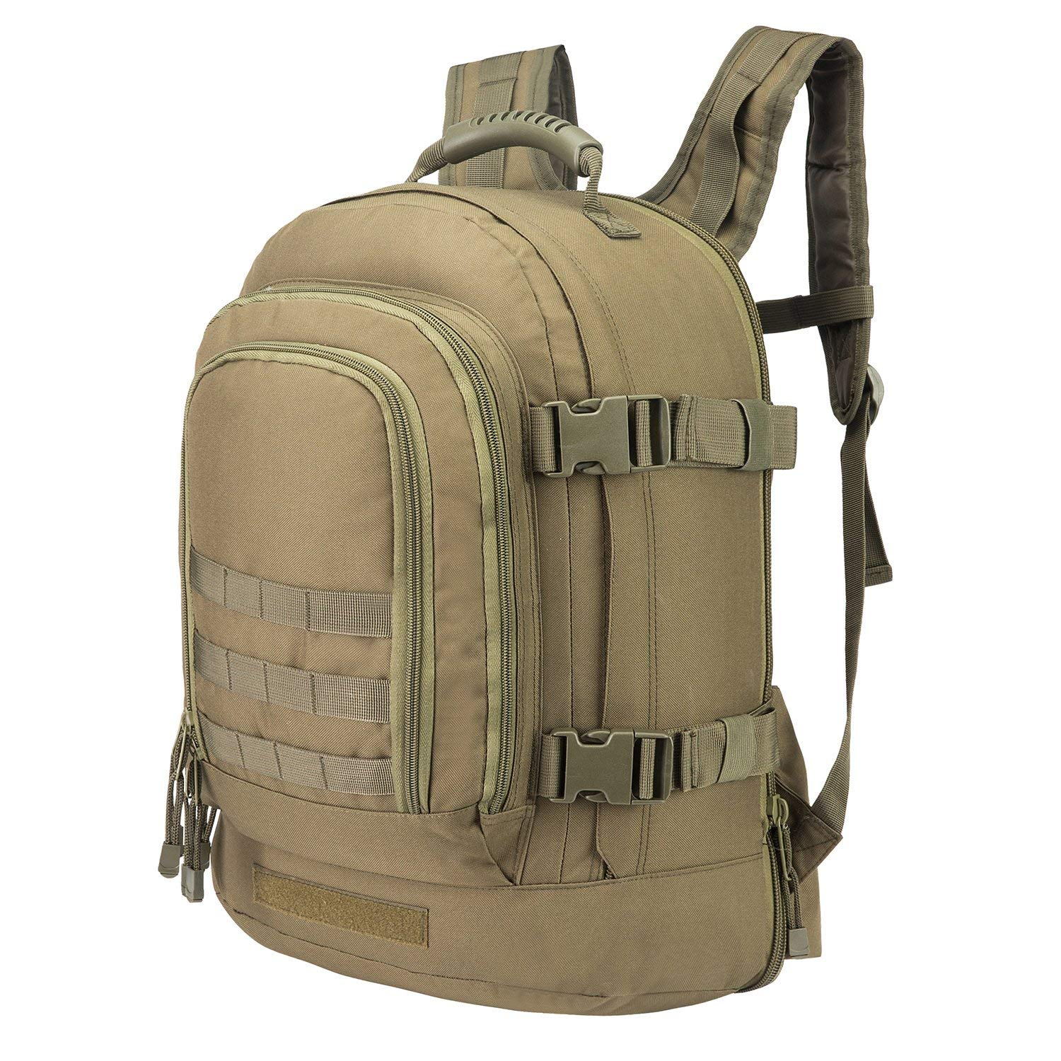 73c799dce361 Get Quotations · Expandable Adjustable Backpack With Waist Strap 39 - 64 L  Large 3 Day Military Tactical Rucksack