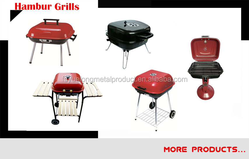 18inch Apple Shaped High Shining Enamel Charcoal Bbq Grill