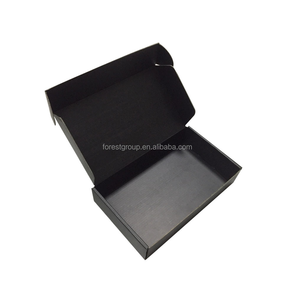 simple paper postal box flute corrugated postage carton full <strong>Black</strong> mailing box