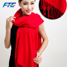 Pure Color Long Wool Cashmere Scarf