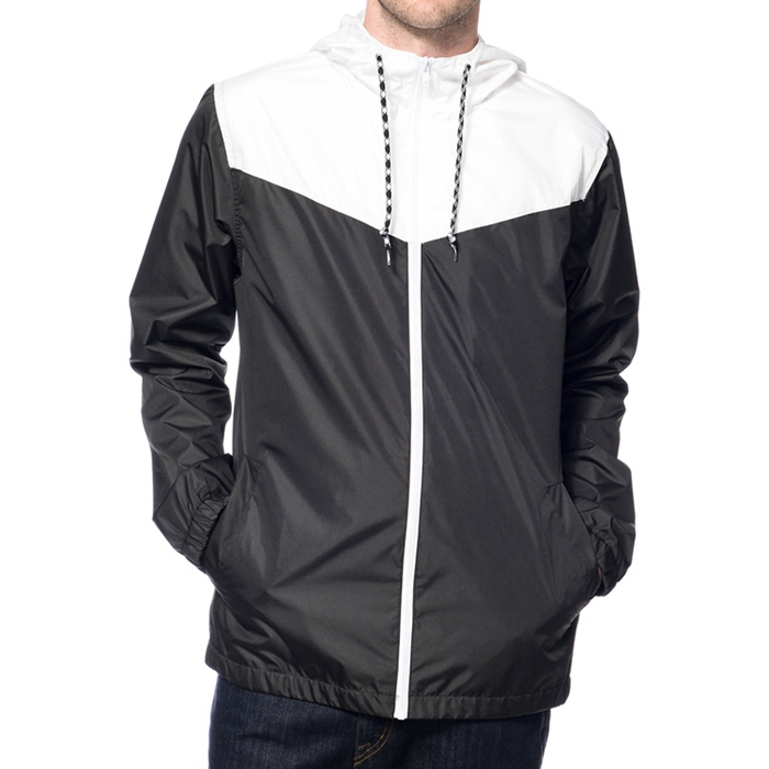 Zip Up Style Custom Two Tone Cheap Windbreaker Jacket - Buy ...
