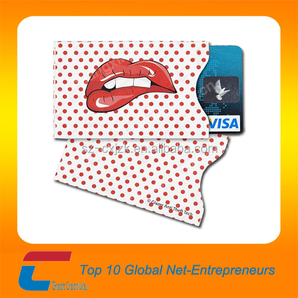 Very beautiful plastic pvc business blocking card sleeves with special request