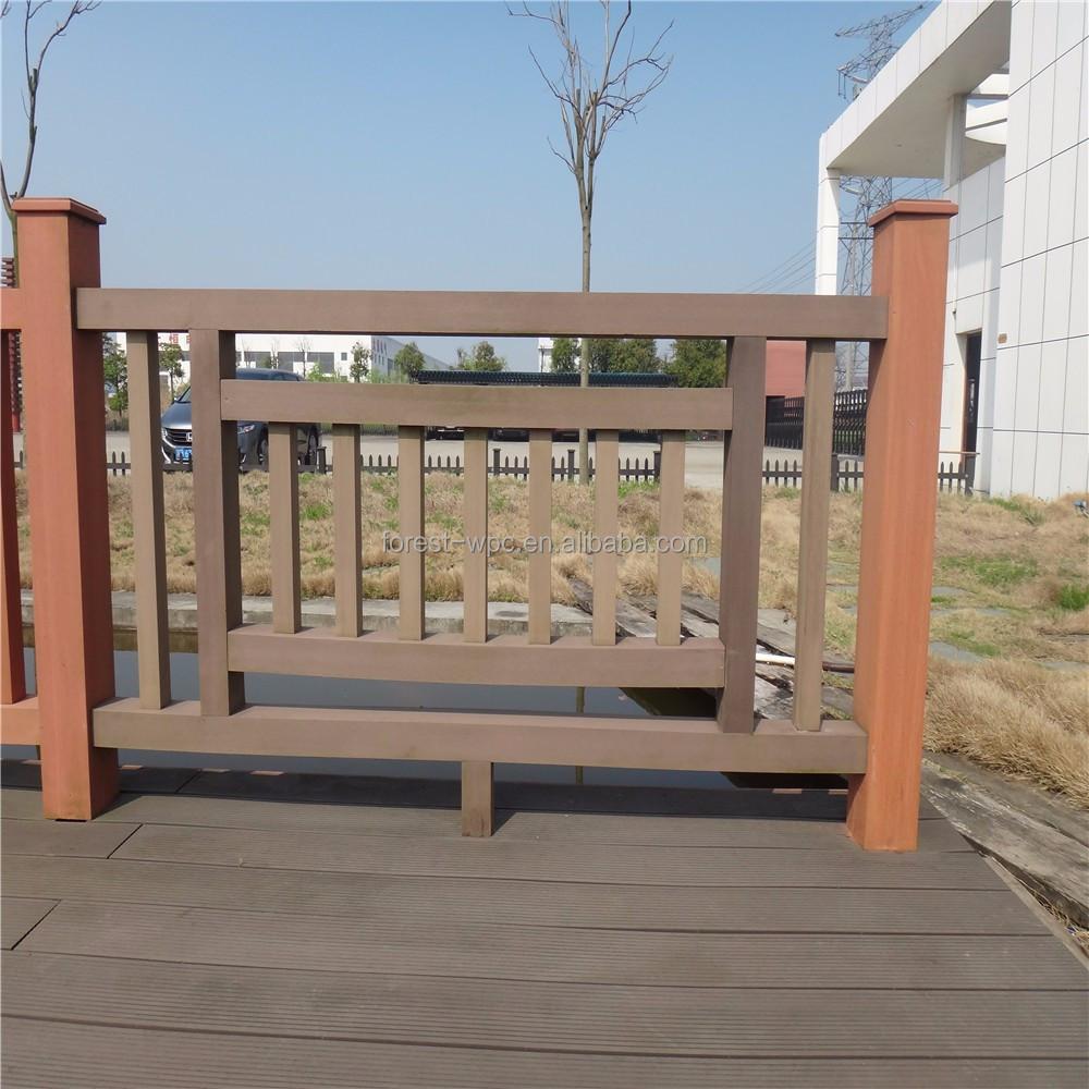 Venta al por mayor barandillas de madera para exterior for Barandilla escalera exterior