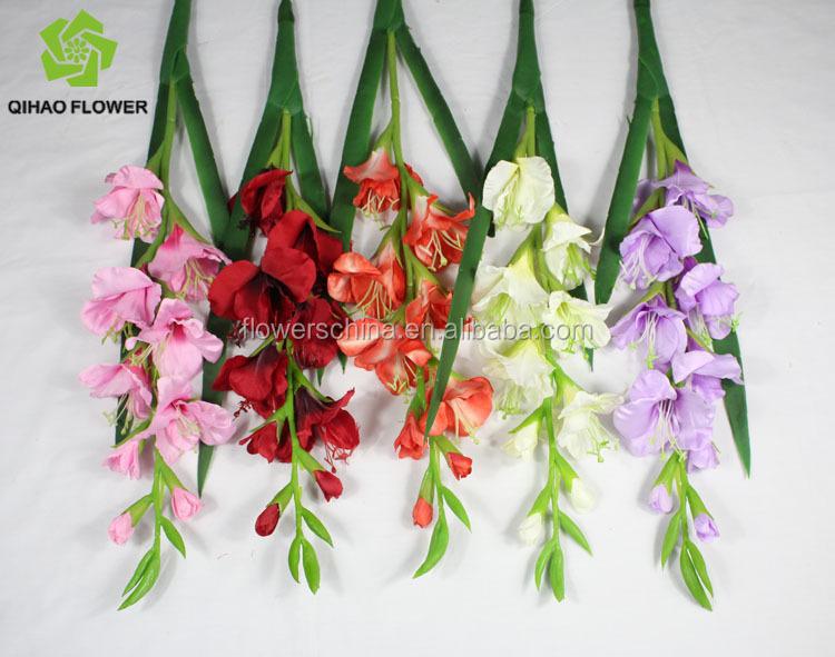 Soie A Tige Unique Petites Fleurs Glaieul Orchidee Blanche