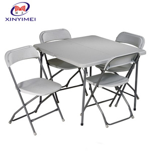 high quality light outdoor plastic folding table and chair for events