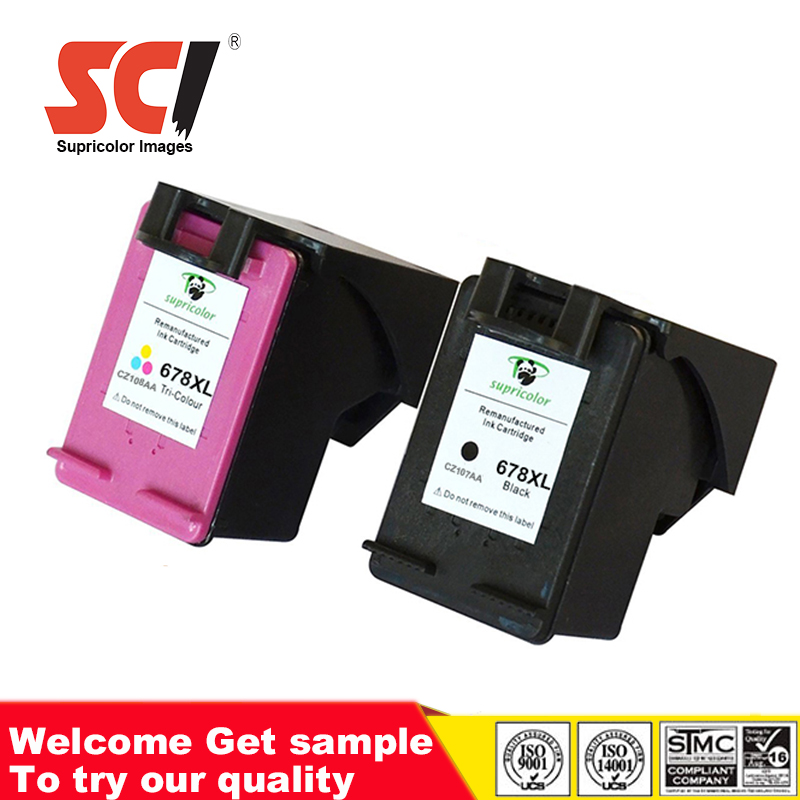 Remanufactured Ink Cartridge CZ107AA/CZ108AA compatible hp 678 ink cartridges