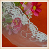 wholesale off white embroidery lace with mesh for wedding dresses