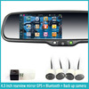 GPS navigation rearview mirror + bluetooth rearview minitor + 4.3 inch hd touch screen + parking sensor radar + wirelss camera