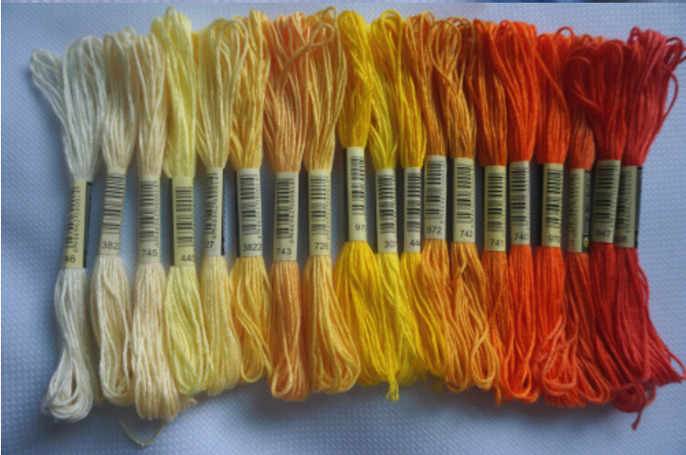 cross stitch embroidery thread floss for hand knitting
