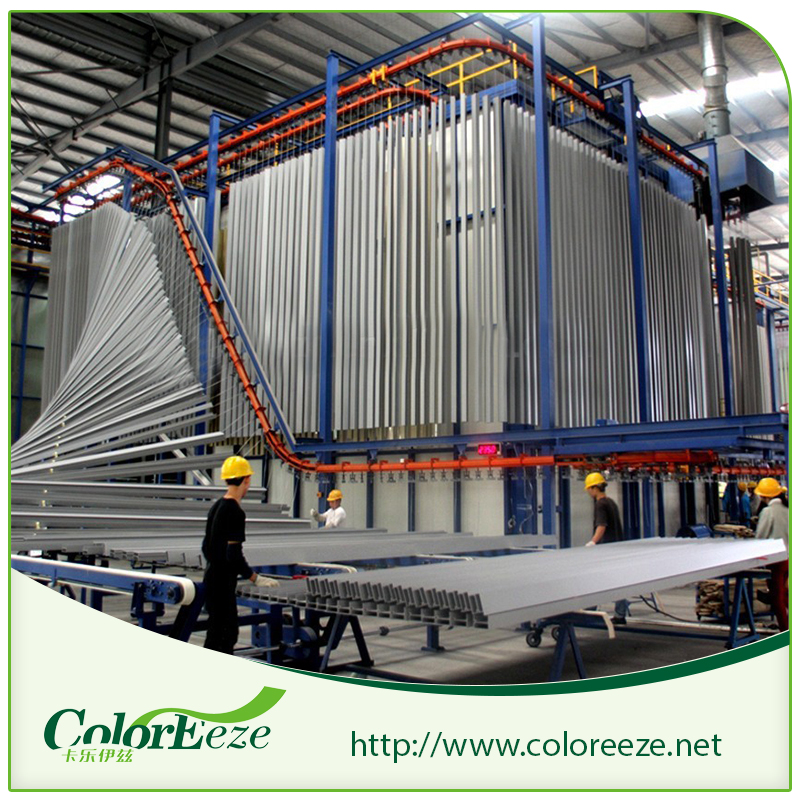 High Capability Output Vertical Powder Paint Coating Line