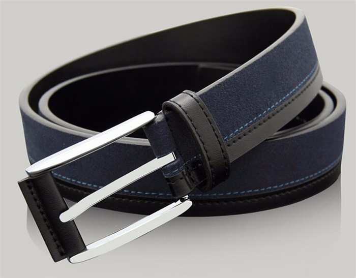 fashion manufacturer genuine leather suede belt for