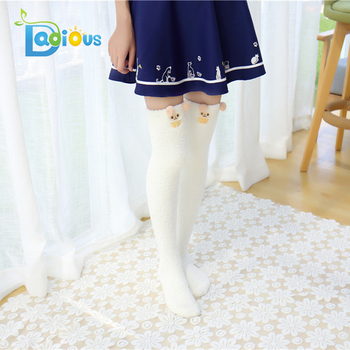 5013b125fac Dadious Cute Animal Coral Fleece Thigh High Long Striped Socks Cartoon socks