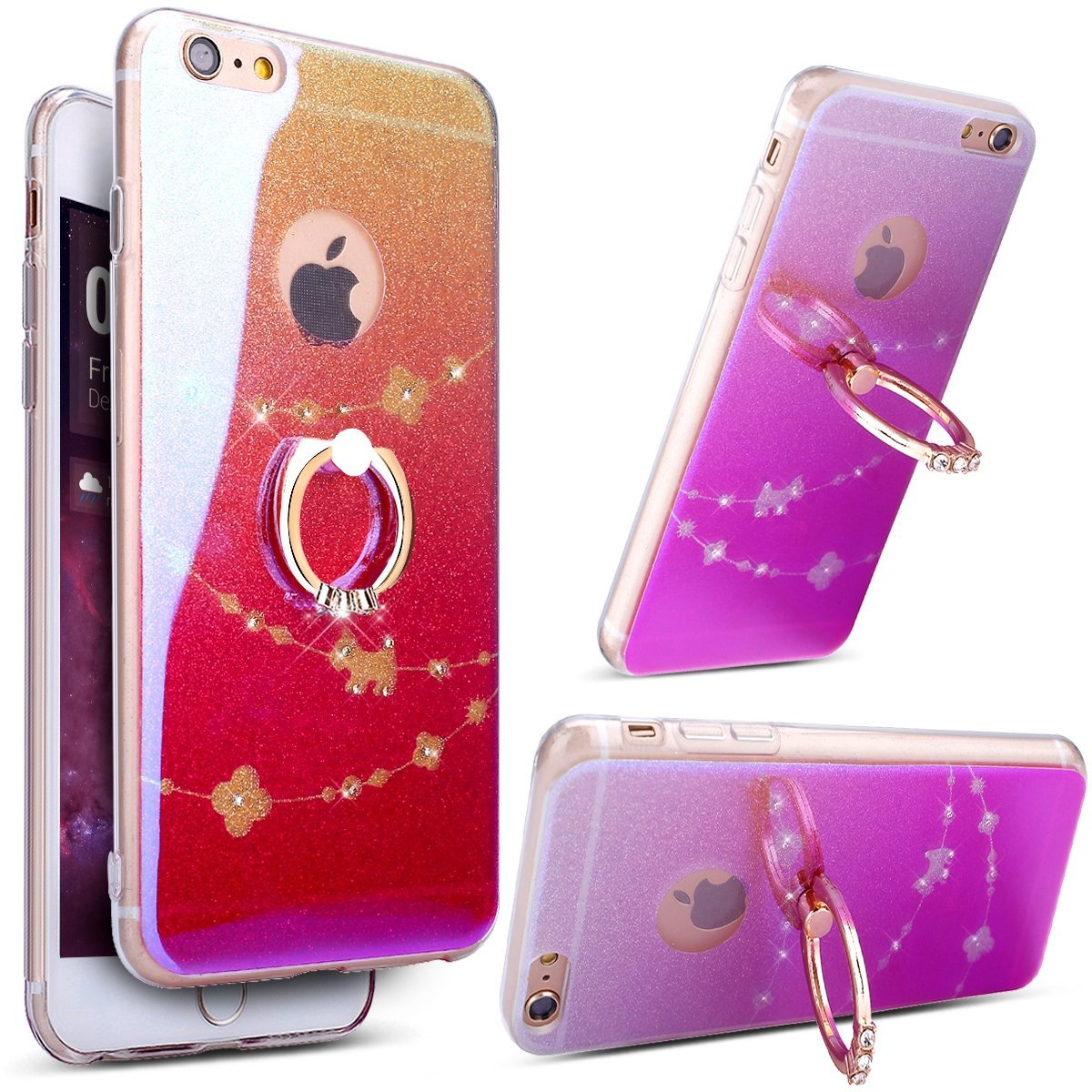Buy iPhone 6 Plus Gradient Rainbow Bling Glitter Screen Protection ...