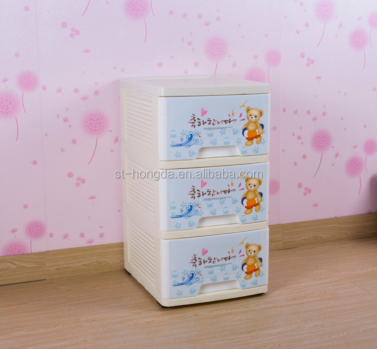 Plastic slaapkamer ladeblok baby speelgoed opbergdoos hd for Plastic ladeblok